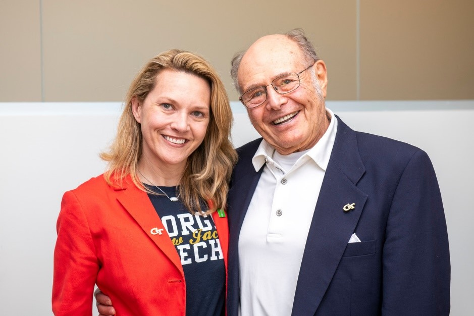 Amy Evans (EMBA 2017) meets Mr. Scheller.