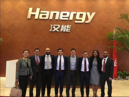 The Hanergy MBA team visits their client's office in Shanghai.