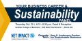 A career panel on the role of sustainability in business careers.