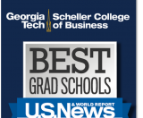 U.S. News & World Report ranks Scheller's MBA in Business Analytics 3rd in the nation.