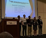 Venture Lab Competition -Brian Schmatz (4th from right) and Jordan Gulli (2nd from right)