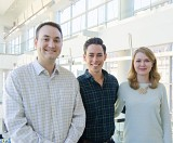 Full-time MBA students Mark Jacobson, Cameron Richard-Smith, and Anya Babinets