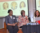 Panelists included, left to right: Jennifer Priestley, Cheryl Pressley, Jackie Breiter, Graciela Chadwick, and Prital Ullal.