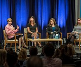 Left to right: Dean Maryam Alavi, Kristin Fink, Dana Randall, and Gayle Sirard.