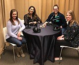 Thea Dietrick, Sara Winkle, Host Jasmine Howard, and Julia Snell