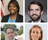 Top row: Senator Tonya Anderson (D-Lithonia); Representative Houston Gaines (R-Athens); Bottom row: Doug Ammar, Executive Director of the Georgia Justice Project; and Lisa McGahan, Policy Director at the Georgia Justice Project