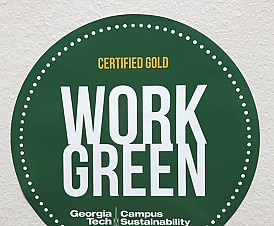 Scheller College Receives Gold Recognition Through the Georgia Tech Work Green Program