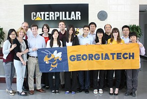 The first international capstone project, held in May 2013, took a group of Tech students on a weeklong trip to Tianjin, China, to work with Caterpillar.