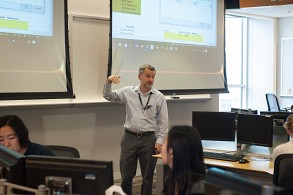 Michael Smith teaches several classes, including Spreadsheet Modeling 4803, which was developed in response to the needs of both students and employers.