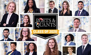 "Scheller College of Business MBA students ""shine"" in Poets & Quants 'Meet the Class of 2020.'"
