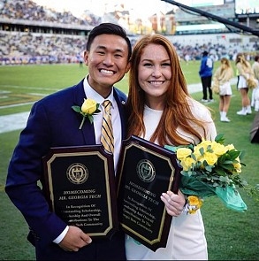 Rachel Luckcuck and Francis Yang win Mr. and Ms. Georgia Tech