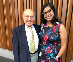 Roopal Goel with Mr. Scheller